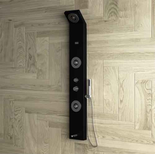 Neon Black Shower Panel