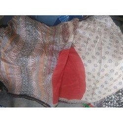 Govind Casual Chanderi Printed Saree, 5.5 m (separate blouse piece)