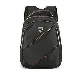 Plain Black Laptop Backpack