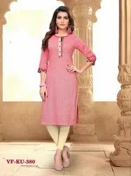 Fancy Cotton Embroidered Kurti