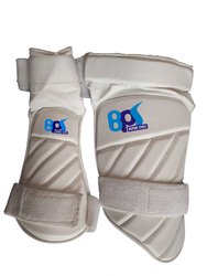 Strap White BPS Cricket Thigh Pad, Size: Medium