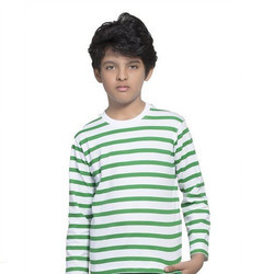 Clifton Full Sleeve Boys Small Stripes T-Shirt