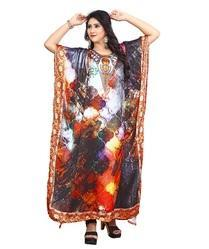 Beach Party Wear Women''s High Quality Satin Silk Kaftan