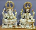 White Marble Laxmi Ganesh Statue