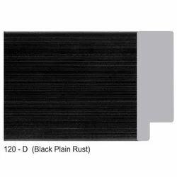 120-D Series Plain Black Rust Photo Frame Moldings
