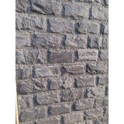 Cut-to-Size Grey Sagar Black Rock Face Bunch, For Wall Tile