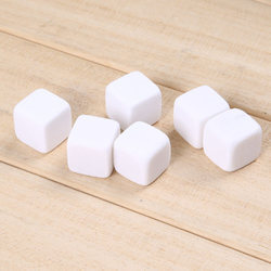 Shinny Polished Awestuffs White Whiskey Stones (Pack of 9) for Cooler Use