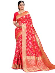 Lustrous Art Silk Saree With Blouse Piece By Parvati Fabric (21899)