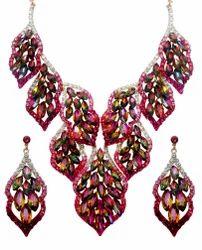 Artificial Stone Necklace Set