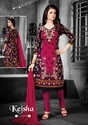 Cotton Ladies Semi-stitched Printed Suits