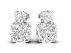 925 Sterling Silver Platinum Plating Wedding Earring