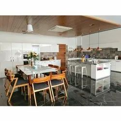 PVC Residential Italian and German Modular Kitchen, Warranty: 1-5 Years