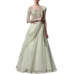 2c5e2a7559 Ladies Party Wear Net Designer Saree Gown, Size: L-XXL