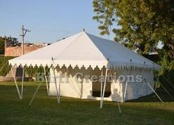 White Wonderful Swiss Cottage Tent, Size: 12ft X 24ft And 13ft X 26ft