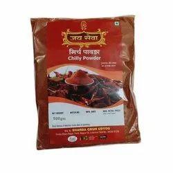 Jai Seva 500 gm Red High Power Chili Powder, Packaging Type: PP Bag