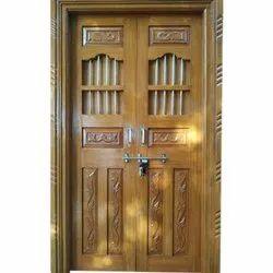 Brown Interior Design Wood Door, For Home