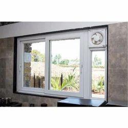 White Waterproof UPVC Sliding Window, Glass Thickness: 25 Mm