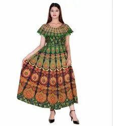 Casual Wear Ladies Jaipuri Frock