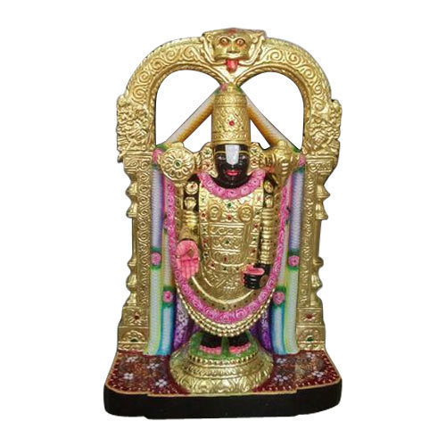 Multicolor Painted Tirupati Balaji Marble Statue For