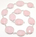 Pink Chalcedony Connector Chain