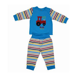 Cotton Baby Tractor Top Pajama Set