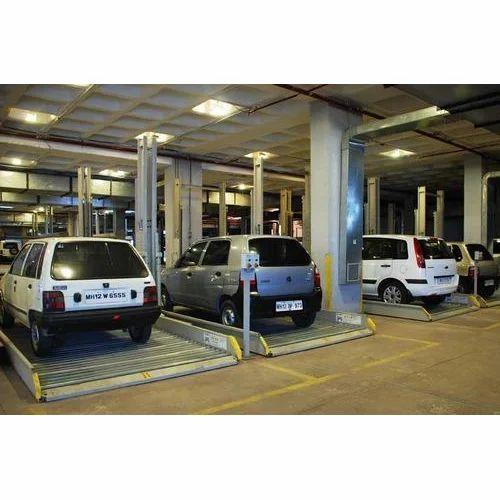 Mild Steel Hydraulic Car Parking Lifts Table Size Feet X Feet 15
