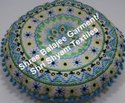 Floor Cushion Round Pom Pom Embroidered Decorative Seating Boho Colorful Floor Pillow Meditation