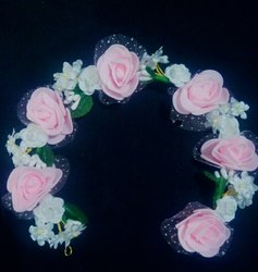 Pink Flowers Hair Accessories