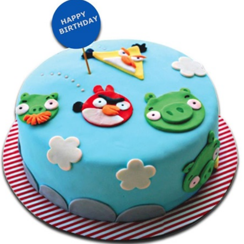 Peachy Blue Angry Bird Fondant Cake At Rs 2650 Kilogram Funny Birthday Cards Online Overcheapnameinfo