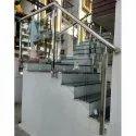 304 Stainless Steel & Glass Stair Railings, Warranty: 1 Year