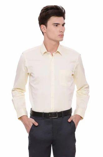 abc27294ec07 Peter England Formal Yellow Shirt