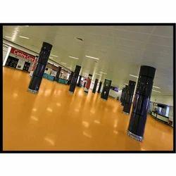 Industrial Polyurethane Flooring Service, 500 Sq Ft
