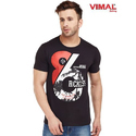 Cotton Casual Wear Graphic Printed Round Neck T Shirt For Men
