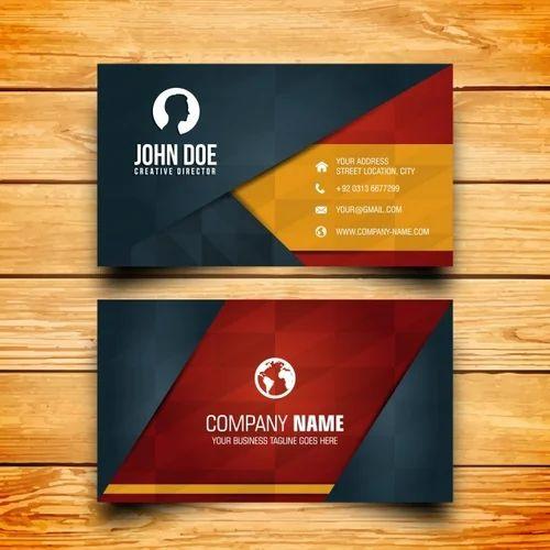 Multi Colour Paper Business Card, Size (Centimetre): 5.5 X ...