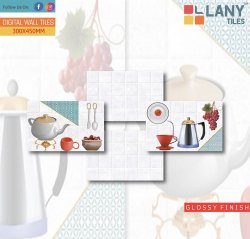 Glossy Kitchen Digital Wall Tiles