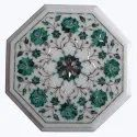 White Coffee Center Floral Table Top