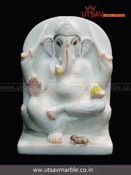 God Statue Jaipurcrafts White marble ganesha statue, for Worship
