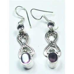Amethyst 925 Sterling Silver High Fashion Earrings