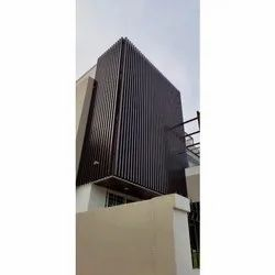Box Type Rectangular Alu Louvers, For Residential Use, Size: 50x100mm
