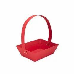 Red Cardboard Basket