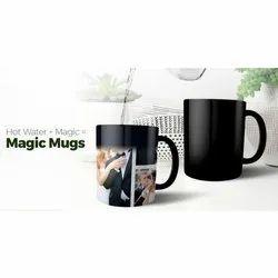 Black Couple Printed Magic Mug