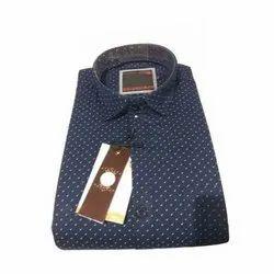 Biasons Cotton Mens Dot Printed Shirt