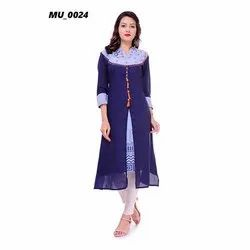 Designer Blue Ladies Kurti
