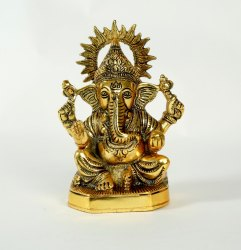 Gold Plated Ganesh