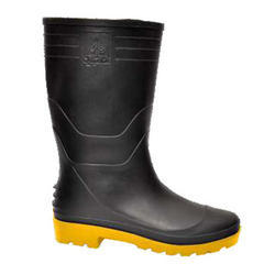 Welcome Black Yellow Safety Gumboots