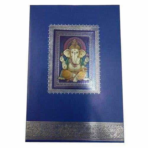 Ganpati Theme Wedding Card