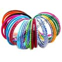 Anmol Exports Silk Thread Wrapped Bangles, Packaging Type: Box