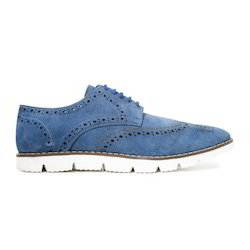 Blue Fancy Leather Shoes