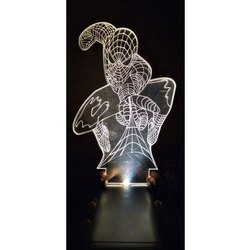 Table Lamps Wood Spider Man LED Illusion Acrylic Lamp, For Decoration