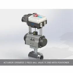 Actuator Operated 2 Piece Ball Valve TC End with Positioner